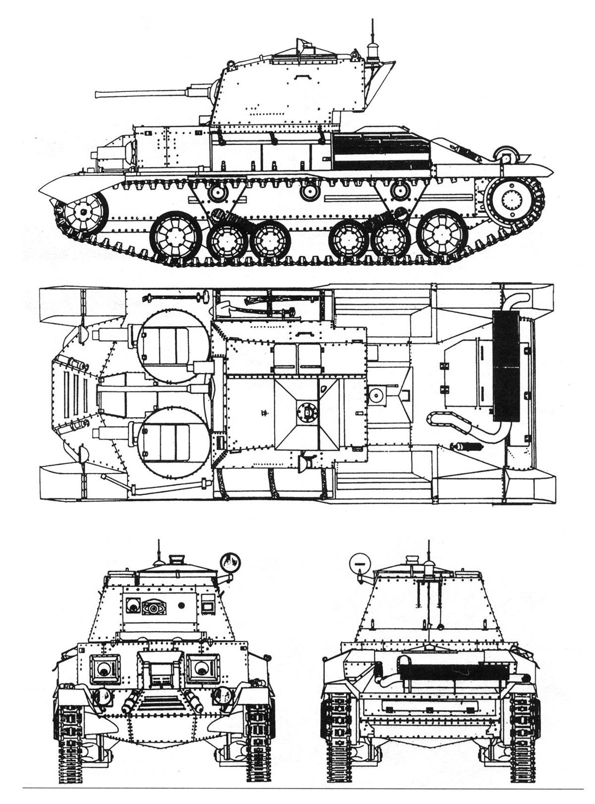 A9 Cruiser Tank Mk I Velka Britanie Gbr