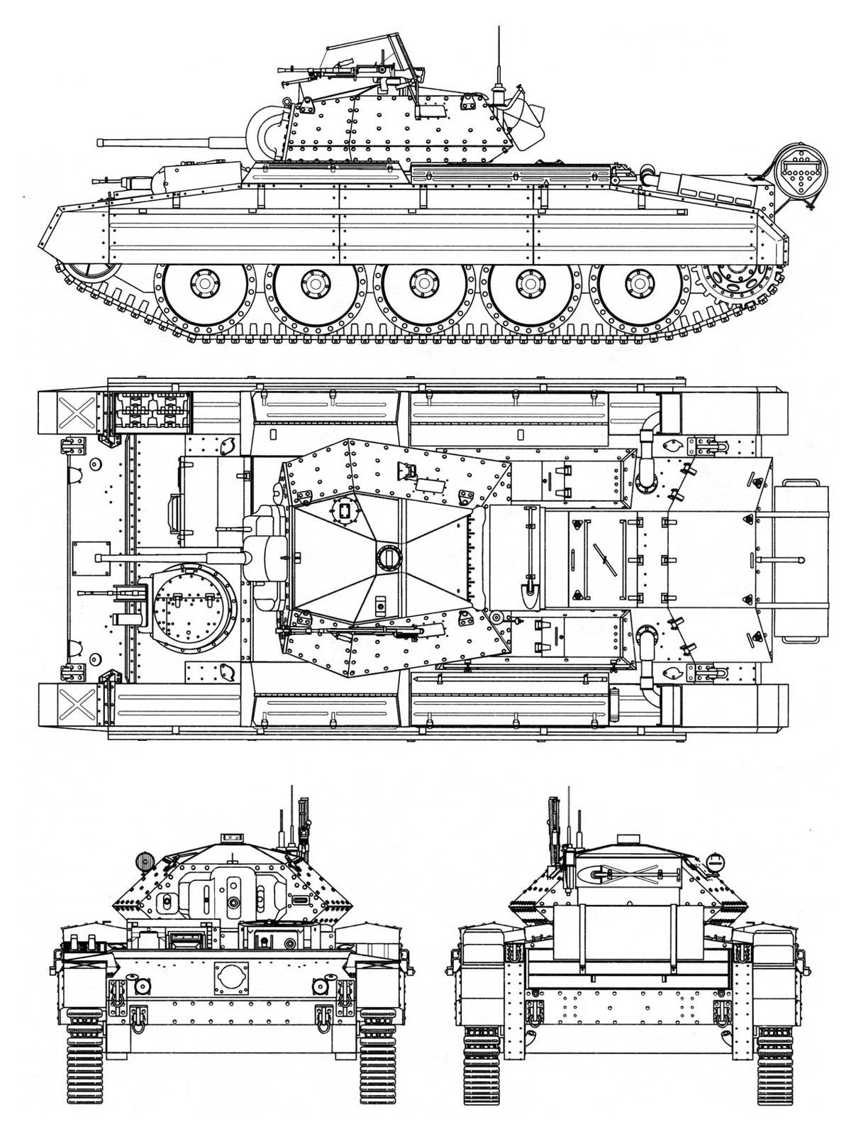 A15 Cruiser Tank Mk Vi Crusader I Velka Britanie Gbr