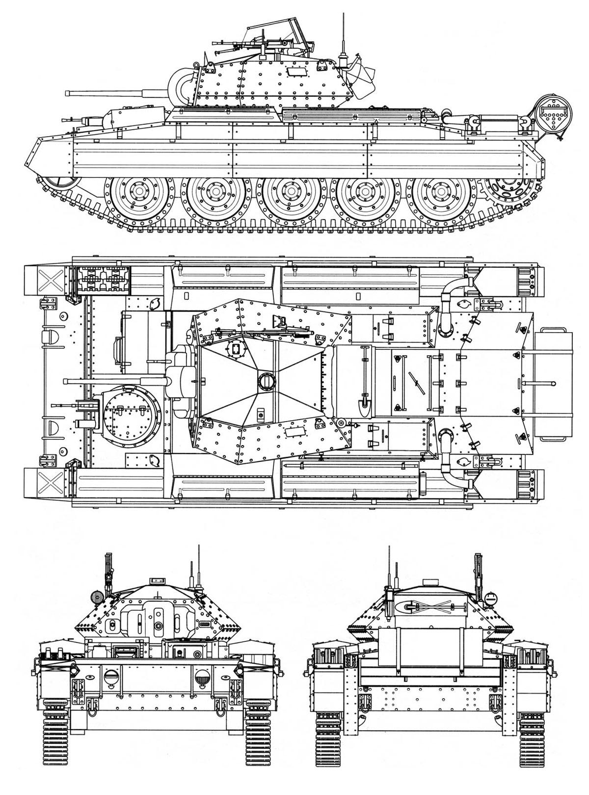A15 Cruiser Tank Mk Vi Crusader Ii Velka Britanie Gbr
