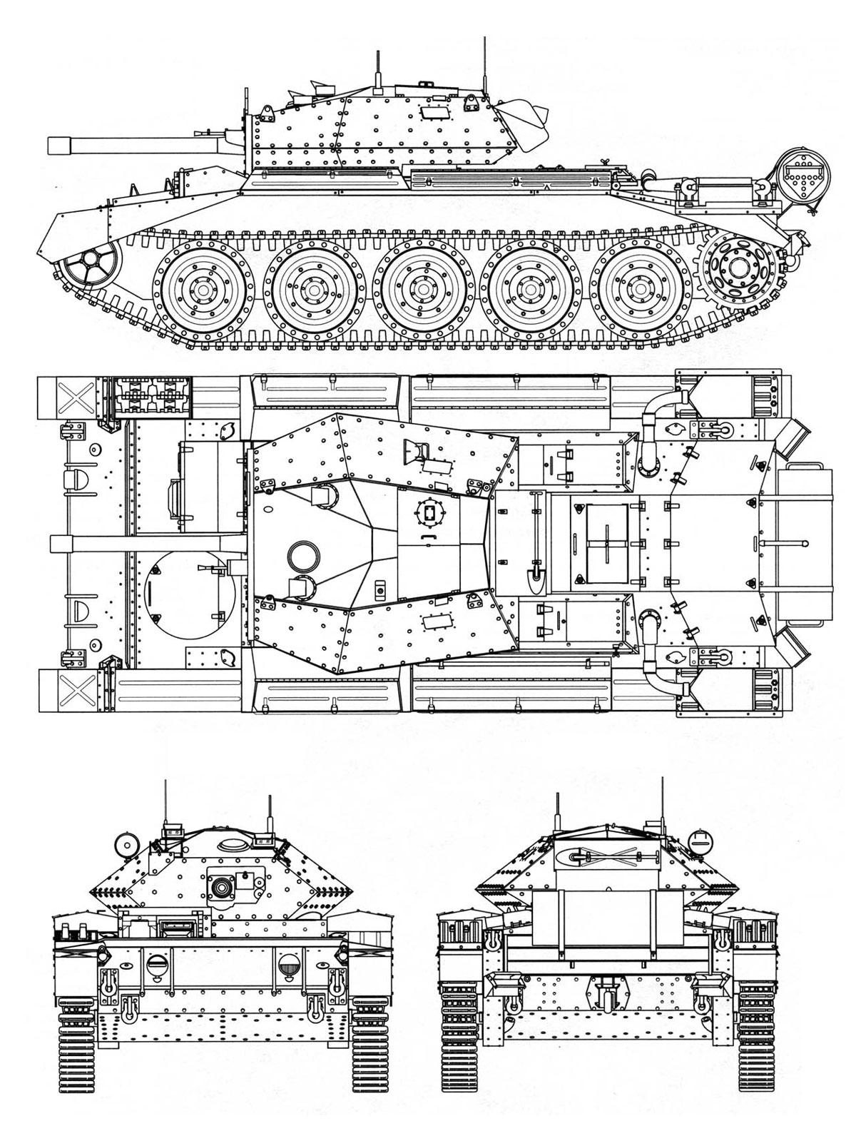 A15 Cruiser Tank Mk Vi Crusader Iii Velka Britanie Gbr