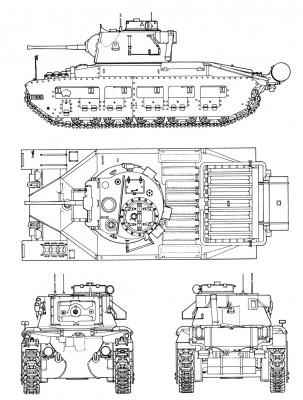 A12 Infantry Tank Mk Ii Matilda Ii Velka Britanie Gbr
